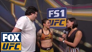 Download Jessica Andrade talked to Megan Olivi after her victory in Japan | UFC FIGHT NIGHT Video