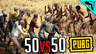 Download 50vs50 MELEE ONLY - PlayerUnknown's Battlegrounds Gameplay Highlights (PUBG Gameplay Custom Game) Video
