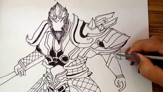 Download วาด วูคอง Rov หรือลิง ตัวละครในเกมส์Rov / wukong rov /สอนเด็กวาดการ์ตูน Video