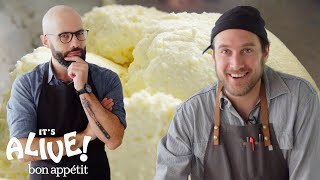 Download Brad and Babish Make Ricotta Cheese | It's Alive | Bon Appétit Video