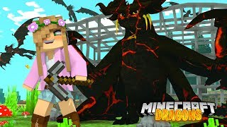 Download DEFEATING THE WICKED NATION AND THE LAVA DRAGONS   Minecraft DRAGON Little Kelly Video