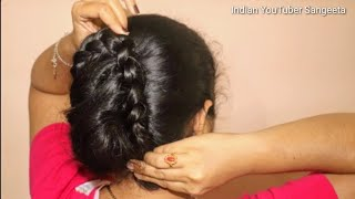 Download Simple hairstyle for Wedding/party    Hairstyles for Girls    Hairstyles for Girls   cute hairstyle Video