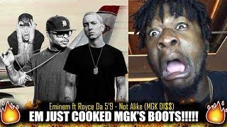 Download Eminem ft Royce Da 5'9 - Not Alike (MGK Di$$) (Kamikaze Album) REACTION! Video