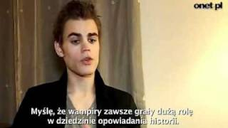 Download Paul Wesley speaks polish - Interview Video