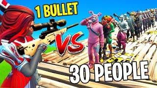 Download 1 BULLET VS 30 PEOPLE (FORTNITE) Video
