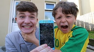 Download I broke my little brother's phone (He nearly cried...) Video
