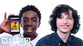 Download Stranger Things Cast Show Us the Last Thing on Their Phones | WIRED Video