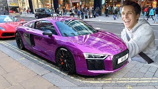 Download PUBLIC REACTION TO MY CHROME AUDI R8!! Video