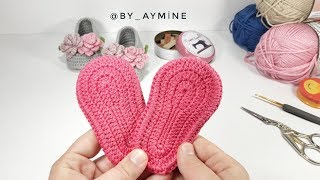 Download BEBEK PATİK TABAN YAPIMI 0-3 AY, Very Easy Tutorial For Crochet Booties Sole Video