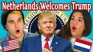 Download TEENS REACT TO THE NETHERLANDS WELCOMES TRUMP Video