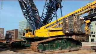 Download LIEBHERR LR 1750 RAUPENKRAN HEBT STAHLBRÜCKE THÖMEN HAMBURG Video