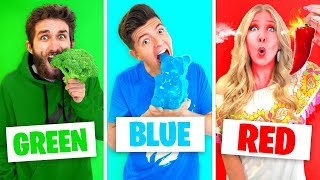 Download Eating Only ONE Color of Food for 24 Hours! (Rainbow Food Challenge) Video