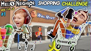 Download HELLO NEIGHBOR SHOPPING CHALLENGE! NEW HOUSE TOUR + WalMart Has EVIL Mannequins! (FGTEEV Beta 3 #1) Video
