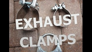 Download Muffler clamps for Exhaust! Band clamp, Lap joint, But joint, U bolt Video