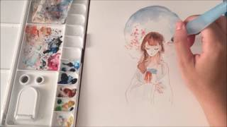 Download 【Watercolor】 Speedpainting Video