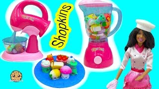 Download Shopkins Season 6 Chef Club Packs with Surprise Blind Bags Mixed in Water Blender Video