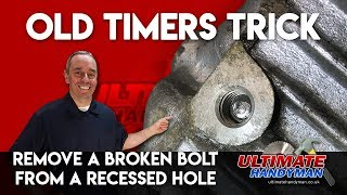 Download How to remove a broken bolt in a deep hole | remove broken bolt in recessed hole Video