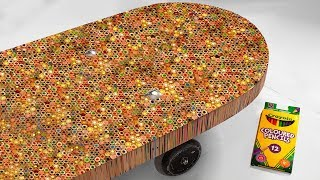 Download I Built A Skateboard Out Of 10,000 Colored Pencils Video