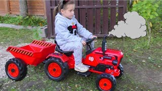 Download Funny Baby Unboxing And Assembling The POWER Wheel Ride on Tractor Excavator Kids car Video