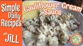 Download Unbelievable Cauliflower Cream Sauce on Veggie Spiral Pasta Video