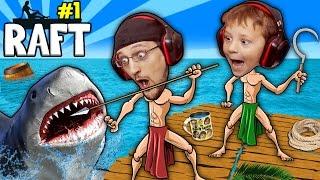 Download SHARK SONG on RAFT! Survival Game w/ Baby Shawn in Danger! 1st Night Minecraft? FGTEEV Gameplay/Skit Video