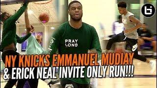 Download NY KNICKS Emmanuel Mudiay & Erick Neal Invite Only Run! Video