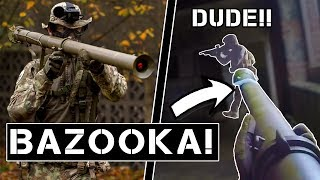 Download Players gets ANGRY being shot by BAZOOKA (close range). Video