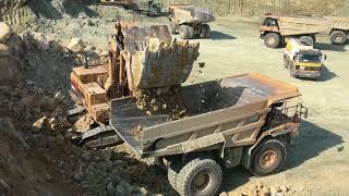 Download Cat 5090B Shovel Excavator Loading Cat Dumpers - Kyvos Ateve Video