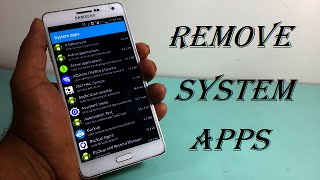 Download How to Remove System Apps on Android Device 2016! Video