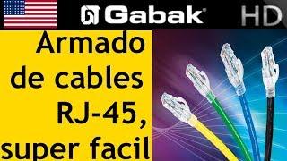 Download Como armar patch cord super facil con super fichas RJ45 Video