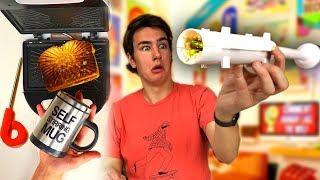 Download Sushi Bazooka - Testing 5 Food Gadgets! Video