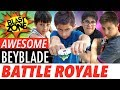 Beyblade Burst Battle Royale!  Awesome Beyblade Stadium Unboxing, Tournament, Tricks and Tips!