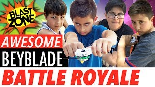 Download Beyblade Burst Battle Royale! Awesome Beyblade Stadium Unboxing, Tournament, Tricks and Tips! Video