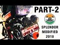 Hero Splendor modified like mini Harley Part-2 |2018 | Kamal auto nikhar & Graphics | Uttarakhand