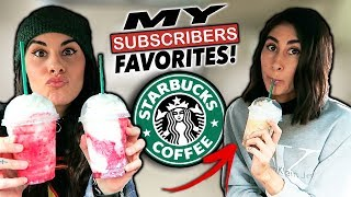 Download Trying MY Subscribers FAVORITE Starbucks Drinks! Video