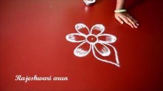 Download beautiful simple rangoli designs with 3 dots - small easy kolam designs - beginners dots muggulu Video