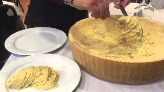 Download Italian pasta with melted cheese. Video