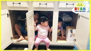Download Kid plays Hide N Seek with twins baby sisters Video