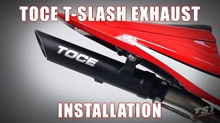 Download How to install Toce Performance T-Slash Exhaust on a 2007-2012 Honda CBR600RR by TST Industries Video