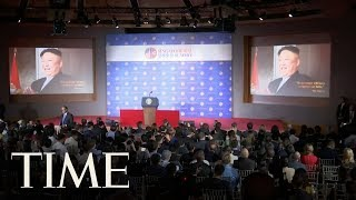 Download President Trump Showed Kim Jong Un & Journalists A Video At The Press Conference In Singapore | TIME Video