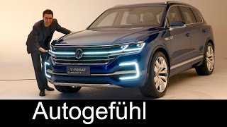 Download All-new VW Touareg 3 Preview 2017 as Volkswagen T-Prime Concept GTE Video