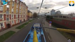 Download MHD Ostrava - Trolejbusová linka 103 - GoPro front view from pantograph Video