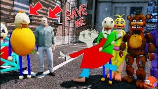 Download The Animatronics Baldi Save Playtime from Jason & Bully! (GTA 5 Mods For Kids FNAF RedHatter) Video
