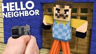 Download Realistic Minecraft : Hello Neighbor - Secret Hidden GUN!? Shooting Mr. Wilson! Video