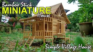 Download Bamboo Stick Miniature House // Simple Village House // CUSTOM MADE Video