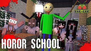 Download Monster School : HOROR SCHOOL BALDI'S GRANNY GRANDPA SLENDRINA SLENDERMAN JEFF Minecraft Animation Video