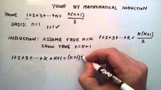Download Proof by Mathematical Induction - How to do a Mathematical Induction Proof ( Example 1 ) Video