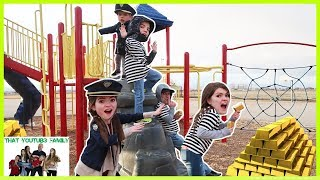 Download COPS AND ROBBERS Get The Gold! - Playground Wars / That YouTub3 Family Video
