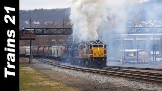 Download 5 ALCO Diesels Hit Their Train.... HARD! Video
