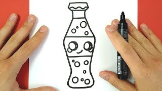 Download HOW TO DRAW CUTE COCA COLA BOTTLE EASY Video